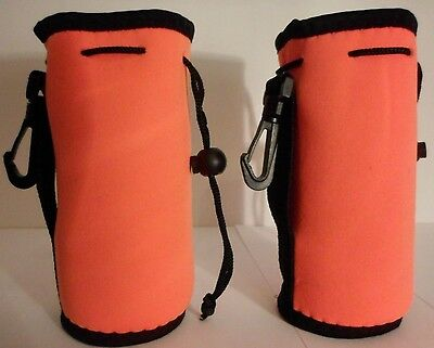 2QTY Insulated Lime Green Koozie Belt Loop and Clip Hiking 16-20oz New Free Ship