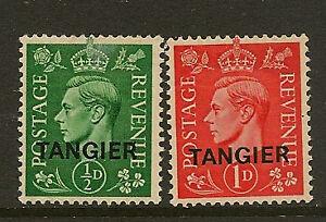 TANGIER :1944 G VI definitive 1/2d pale green and 1d pale scarlet SG 251-2 mint