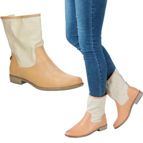 36-41 NEU Damen Boots Stiefeletten Sergio Leone Frühling Komfortable Bequem Gr