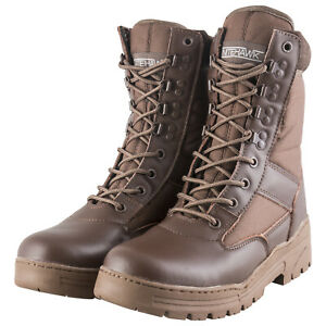 Nitehawk-Army-Military-Patrol-Brown-Leather-Combat-Boots-Outdoor-Cadet-Security