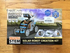 NEW STEM 12-in-1 Solar Robot Educational 190 Piece ...