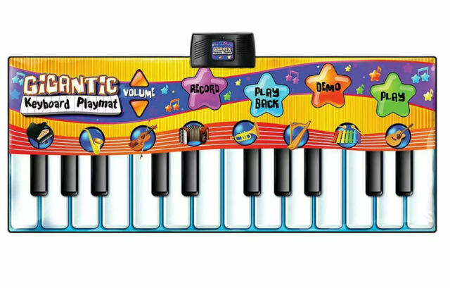 Piano Keyboard Play Mat Piano Musical Mat Early Education Toys for Kids Toddler Girls Boys Anti-Slip Large with 8 Selectable Musical Instruments Musical TNELTUEB 52 X 19 Musical Piano Mat
