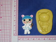 LalaLoopsy Silicone Push Mold Resin Clay Candy Bookscraping A481