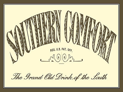 Novelty Gift Man Cave Pub Southern Comfort Bar Retro Metal Plaque//Sign