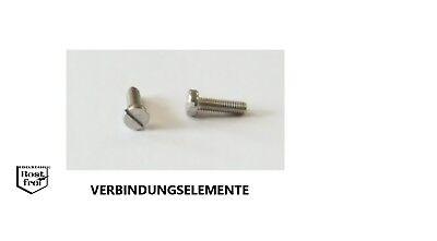 50 Stück  Schlitzschrauben DIN 84 M2,5x6 EDELSTAHL A2 M2,5 x 6