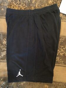 Nike-Jordan-Brand-Basketball-Shorts-Black-w-Black-Stripe-Men-s-XXL-Air-Jordan