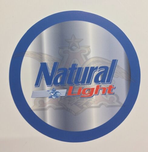 "Natural Light Beer 7/"" Round Metal Sign"