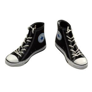 1-6-Scarpe-in-Tela-Sneakers-Nero-Per-Modellismo-Action-Figure-12-pollici
