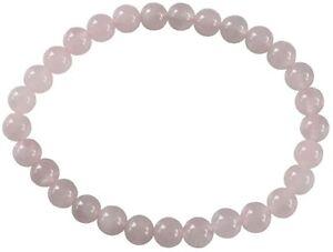 Bracelet Perles Rondes Quartz Rose - 6 mm