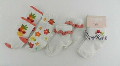 Gymboree Basic Hot Pink Girls Size 6-12 Months Socks NEW NWT