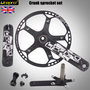 Litepro MTB Folding Road Bike 170mm Crankset BCD 130mm Chainring 45//47//53//56//58T