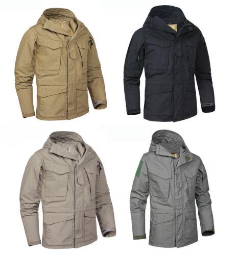 Mens Tactical Waterproof Soft Coats Hoodie Hiking Outdoor Jackets Outwear S-3XL