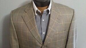 Jack-Victor-Silk-Wool-Blend-3-Button-Blazer-Houndstooth-Jacket-Coat-Sz-42S
