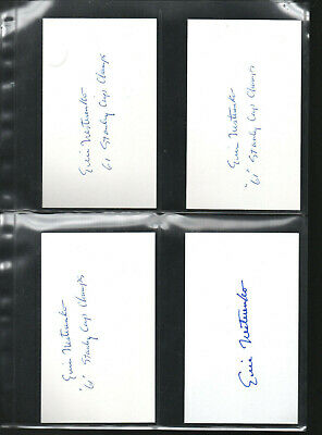 10 Eric Nesterenko Autographed/signed/auto/hand-signed Index Card 3x5 At All Costs Systematic