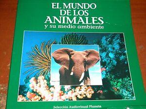 ALBUM EL MUNDO DE LOS ANIMALES / JACQUES COUSTEAU EN LASER DISC.