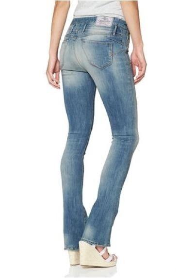 Herrlicher Stiefelcut Jeans Baby Stiefel W28 L32 NEU Damen Hose Stretch Blau Used