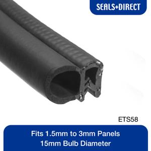 Fits 1.5mm to 3mm Panels Clip On Edge Trim ETS58 Car Van Caravan Boat Door
