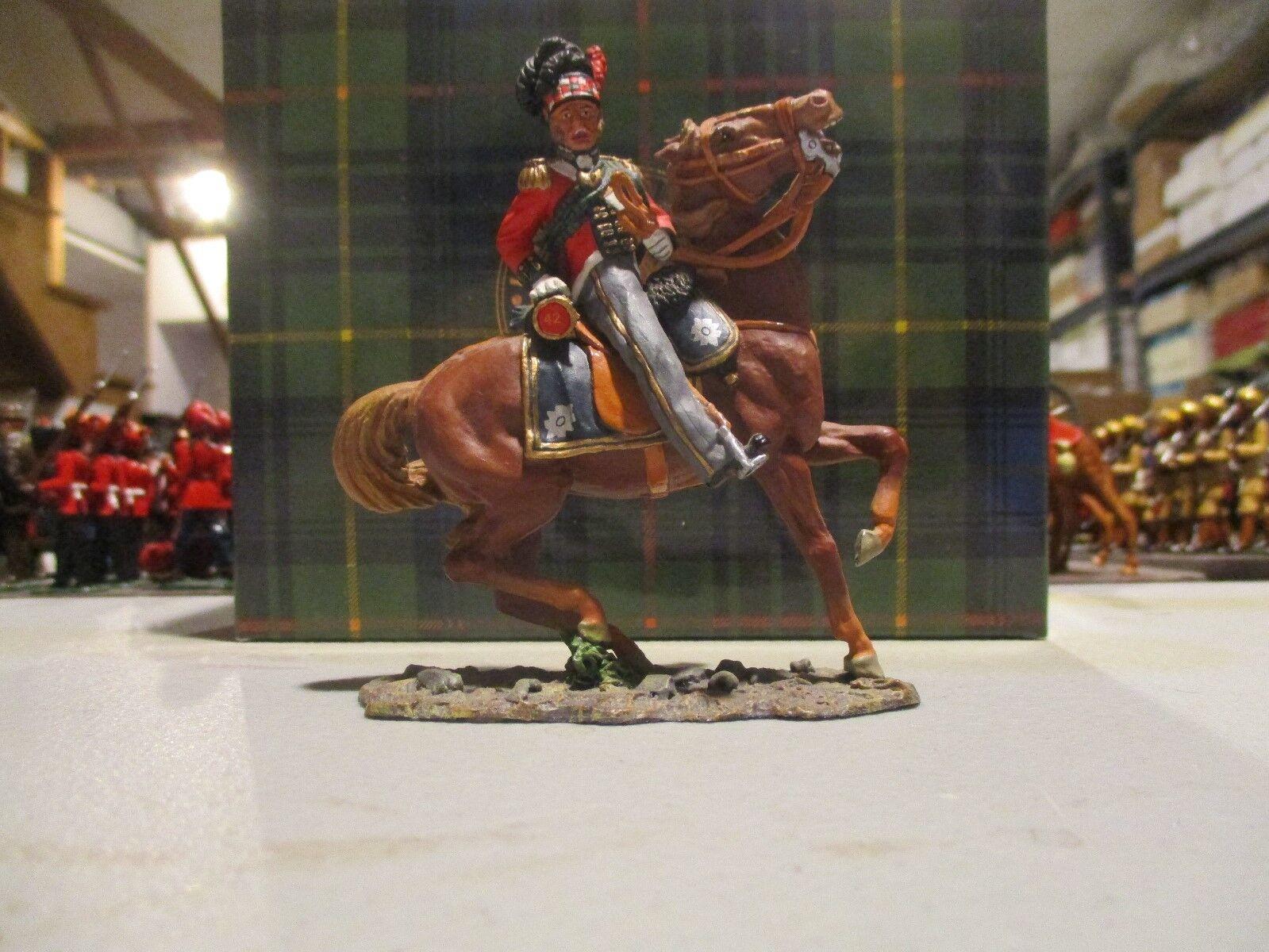 king & country na047 napoleonico britannico highlander montato ufficiale britannico napoleonico d258f2