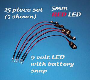 50 x Pre wired 9v 5mm Pink LEDs Prewired 9 volt DC LED Light RC Prop Boat 8v 7v