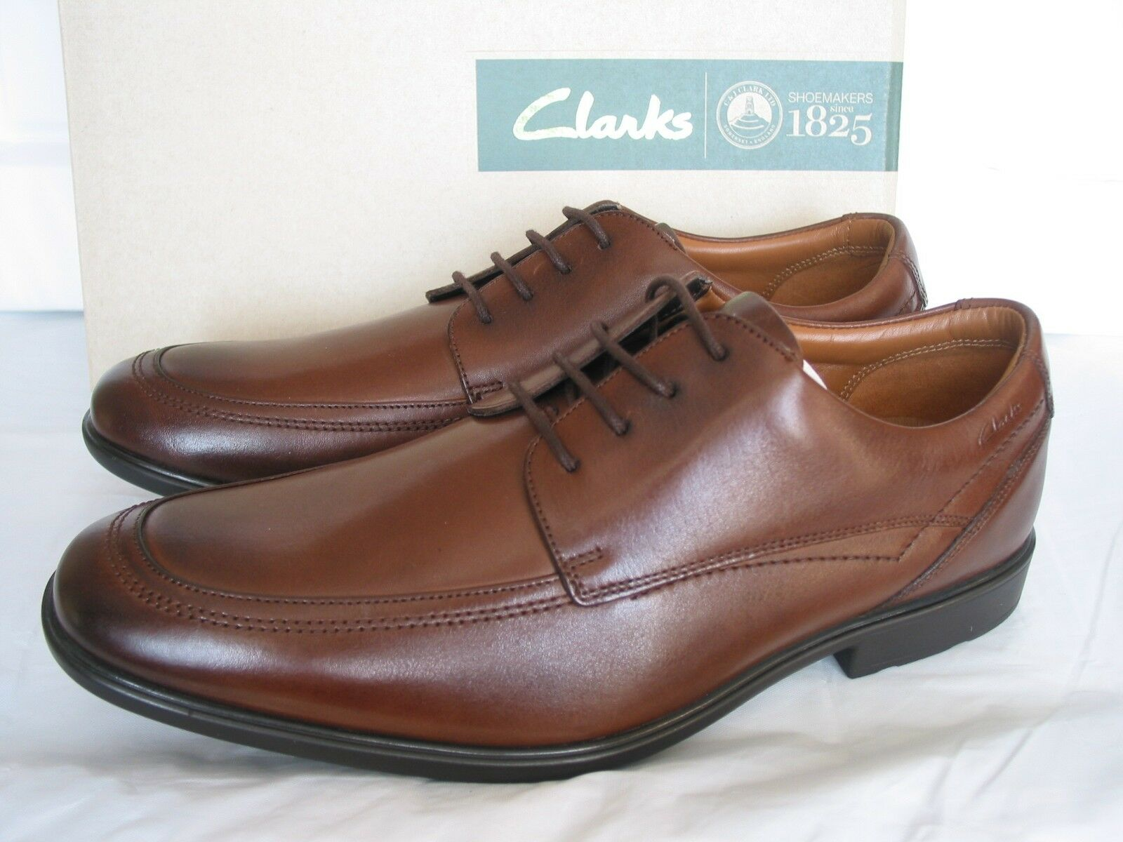 NEW CLARKS GOS WORTH APRON SOFT BROWN LEATHER SHOES SIZE 7 & 7.5