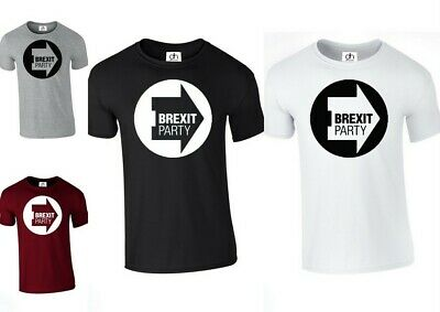 BREXIT PARTY T-Shirt LEAVE MEANS LEAVE British EU Exit Europe Tee Top New