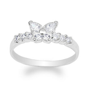 JamesJenny-Womens-14K-White-Gold-Butterfly-Shaped-Band-Ring-Size-4-10
