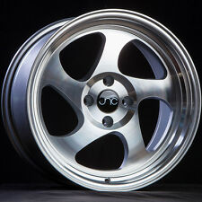 17x9 JNC JNC034 034 4x100 25 Silver Machine Face Wheel New set(4)