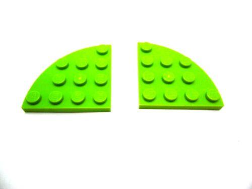 Farbauswahl LEGO 2x Platte Viertelkreis 4x4 Noppen 30565 g
