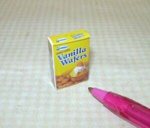 Miniature-Tiny-034-Vanilla-Wafers-034-Box-Generic-DOLLHOUSE-Miniatures-1-12-Scale
