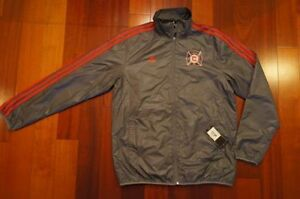 NEW Men ADIDAS Chicago Fire Walk Out Finished Soccer Football Jacket MSRP $85