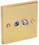 Gamme complète Victorien Laiton poli lumière électrique Interrupteur Prise de Courant Variateur