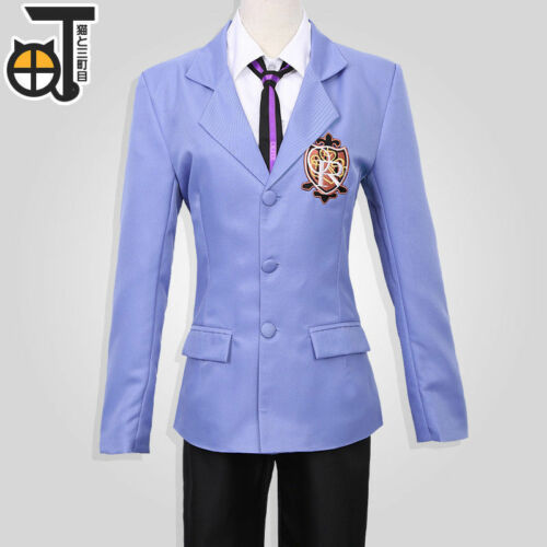 Ouran High School Host Club Full Set School Uniform Costume Anime Cosplay Unisex