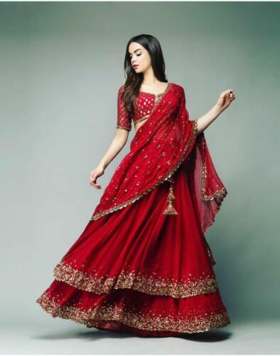 Indien Dernier Mariage Lengha Fête Usure nuptiale Festival pakistanais Lehenga Choli