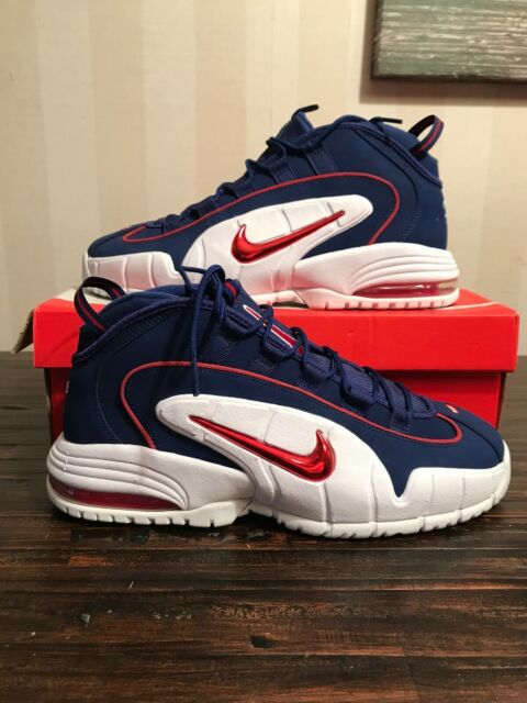 Nike Air Max Penny 685153 400 Royal Blue Red White DS Size 11.5
