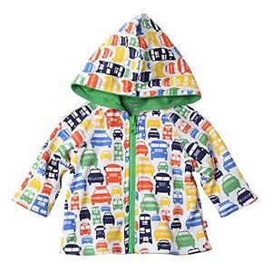 Zutano Reversible Hoodie Jacket, Colorful Cars, 12 Months