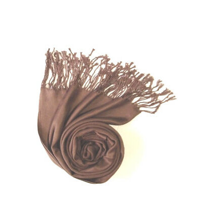 New Pashmina Scarf Shawl Veil Brown Quality Wrap Woman Wedding Accessory