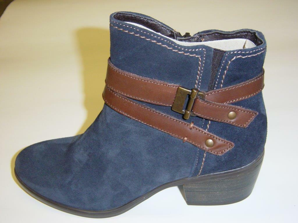 Tamaris Ankle Boots   bluee Brown   Suede   easy lining   Size 40