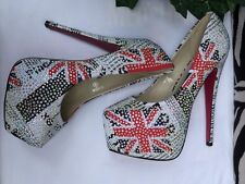(NEW) Kiss Kouture DIOR LONDON Rhinestone Platform Heels Size 9