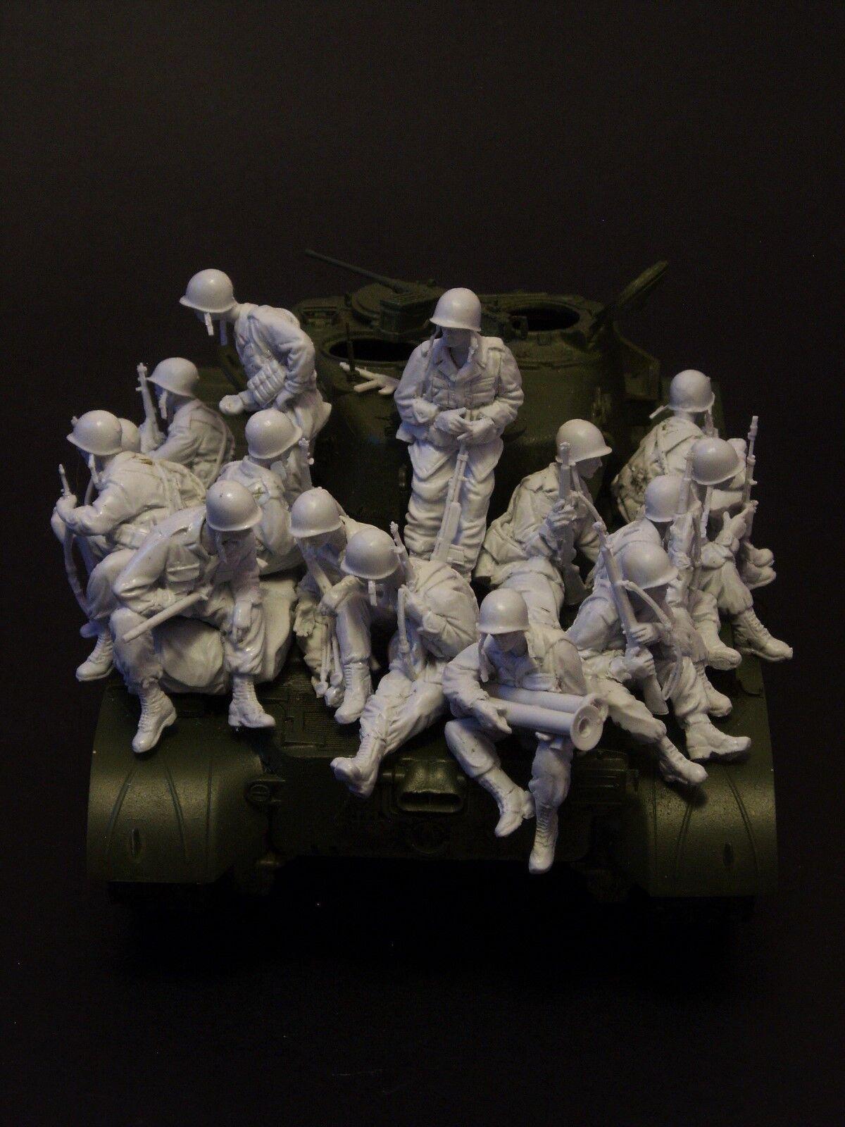 AC Models USArmy Pershing riders Korea 15 soldier figures 1 35th Unpaintd kit