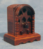 Retro Radio, Dolls House Miniature, Miniatures Room Accessory Old Style Radio