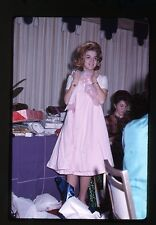 1960s 35mm Kodachrome photo slide Teen Girl Sweet 16 Party Receiving clothes