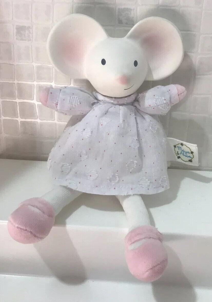 Meiya & Alvin 🤍 Mini Meiya (Mouse) ~ Organic Baby Comforter / Teether