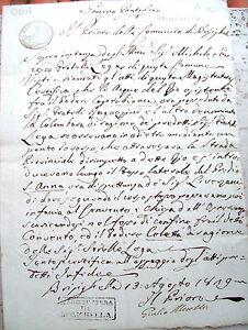 1819-BRISIGHELLA-MANOSCRITTO-SU-ACQUE-DEI-FIUMI-ATTORNO-A-CHIESA-DELL-039-OSSERVANZA