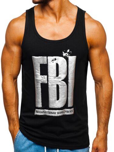 Tanktop Tee Achselshirt T-Shirt Muskelshirt Sport Print Herren BOLF 3C3 Motiv