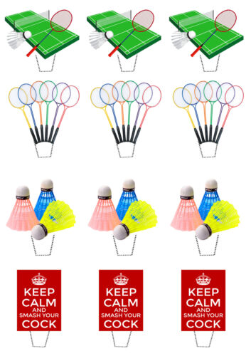 Standup Fairy Bun Decorations Men Rude Edible Cup Cake Toppers Badminton Funny