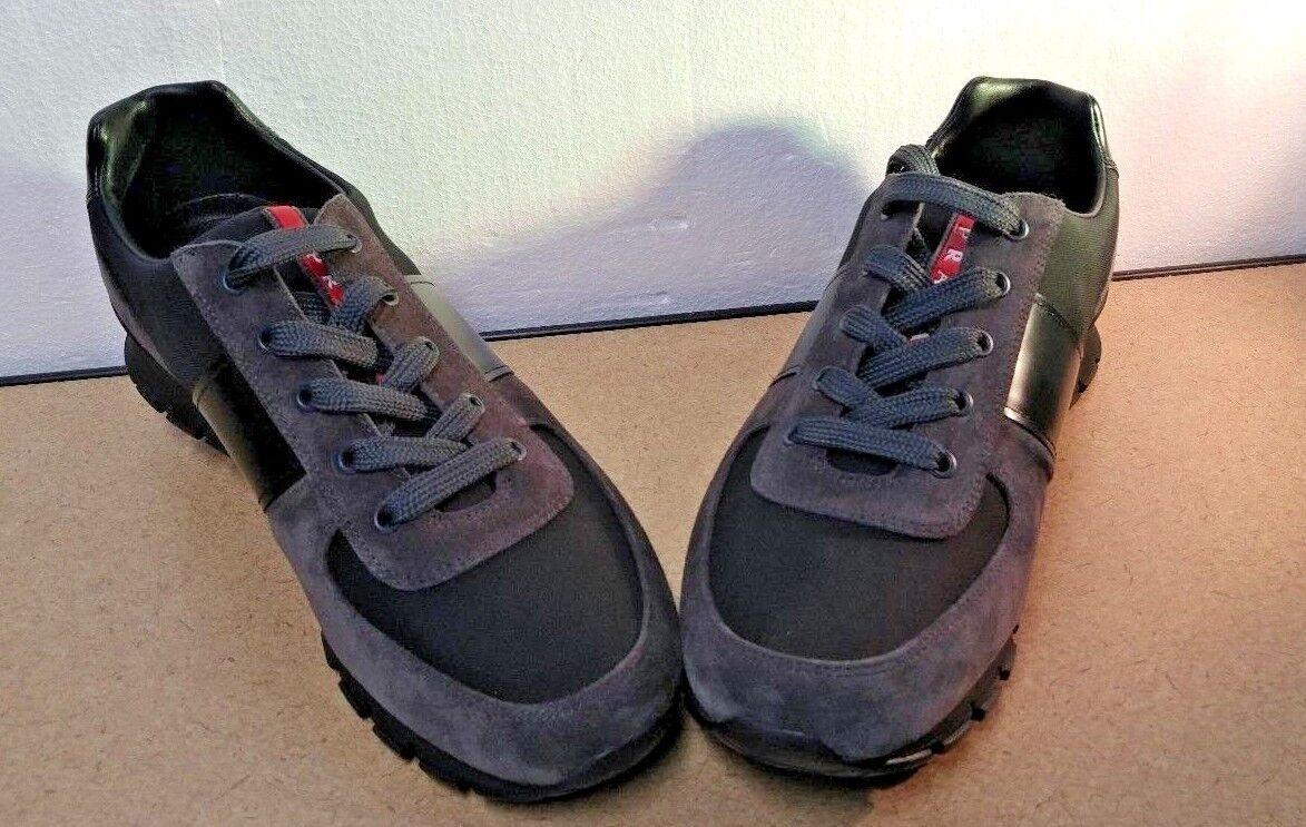 zapatos Prada, 4E2718, asfalto negro nuevas, tamaño 8.5 42, 5 43