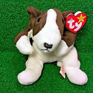 8160b4bc51d Ty Beanie Baby Bruno The Terrier Dog 1997 Rare PVC Plush Toy FREE ...