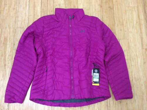 NWT $199 UNDER ARMOUR ColdGear Reactor Puffer Insulated Jacket coat womens pink