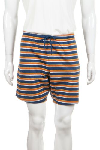 DEUS EX MACHINA Knit Shorts X-Large Blue Yellow Orange Stripe Drawstring NWT