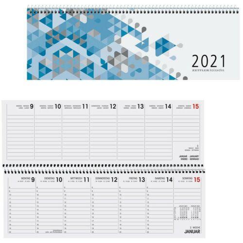Kalender Querkalender Tischkalender Tischquerkalender Zettler 2021 1W = 2S